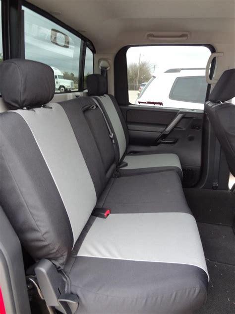 nissan titan seat cover removal 2004 2012 nissan titan crew cab rear 40 60 split bench