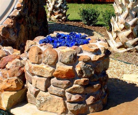 Surprise Yourself By Magic Of The Fire Pit Glass Rocks Pit Rocks