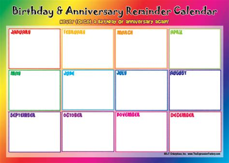 birthday calendars templates free best photos of birthday reminder calendar free template