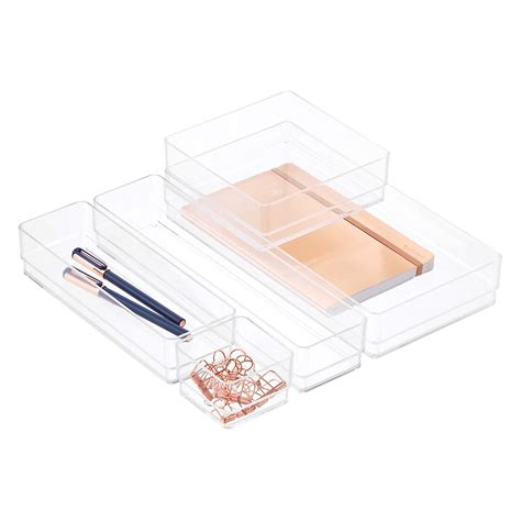 Acrylic Office Drawer Organizers The Container Store Plastic Desk Drawer Organizer