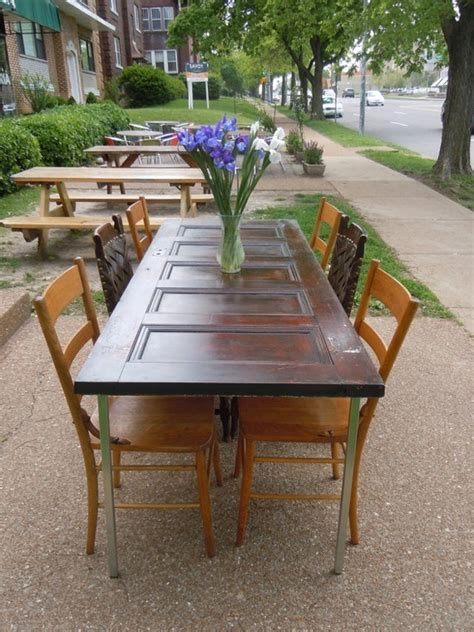 dining table made from old door images frompo 1 28 best images about dining room ideas on pinterest