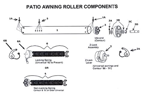 Patio Awning Parts by Zip Patio Awning Roller And With All Parts