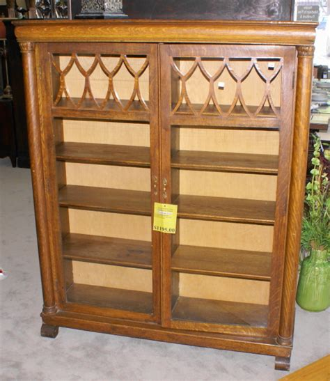 Large Bookcases For Sale Oak Empire Revival Bookcase With Large Columns For