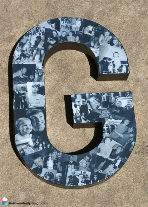How To Make Paper Letters For Your Wall - paper mache photo letter family crafts