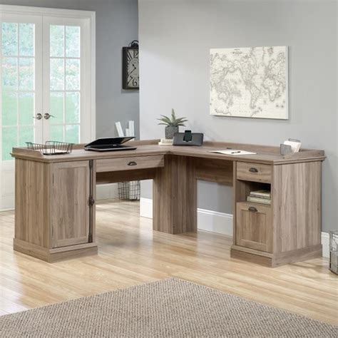 Oak L Shaped Computer Desk L Shaped Desk In Salt Oak 418270
