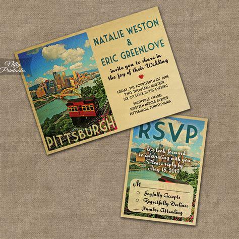 Wedding Invitations Pittsburgh pittsburgh wedding invitations vtw nifty printables