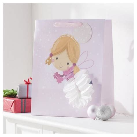 buy tesco fairy christmas gift bag large from our