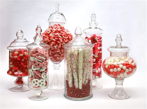 our version of a valentines day candy buffet candy
