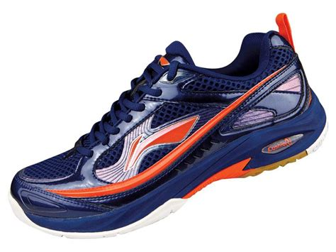 Sepatu Badminton Non Marking li ning mens pro indoor badminton shoes blue orange