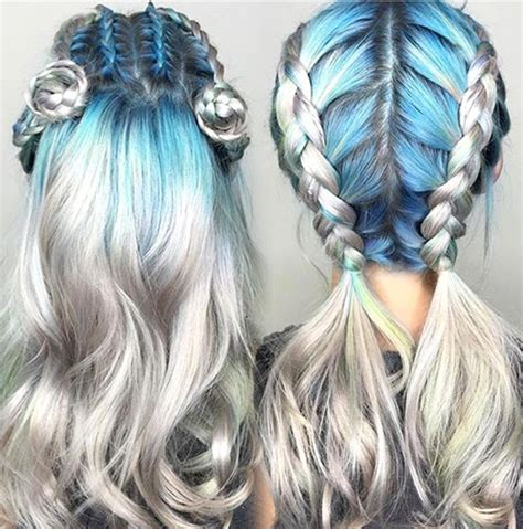 silver blue long hair pictures photos and images for facebook best hairstyles for women top 15 colorful hairstyles