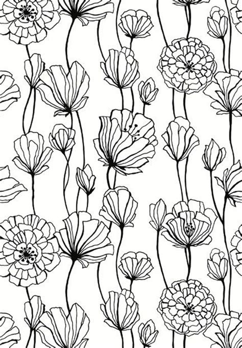 flower pattern to draw flowers pattern black and white pattern fabric