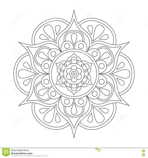Outlines Mandala Coloring Pages
