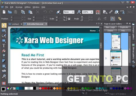 xara web design tutorial layout software web xara web designer premium free download