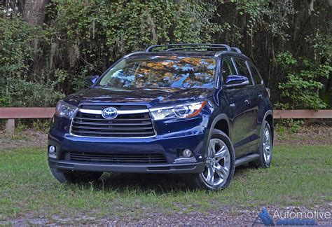 toyota highlander 2015 2015 toyota highlander hybrid limited awd i review test