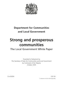 strong  prosperous communities  local government white paper digital education