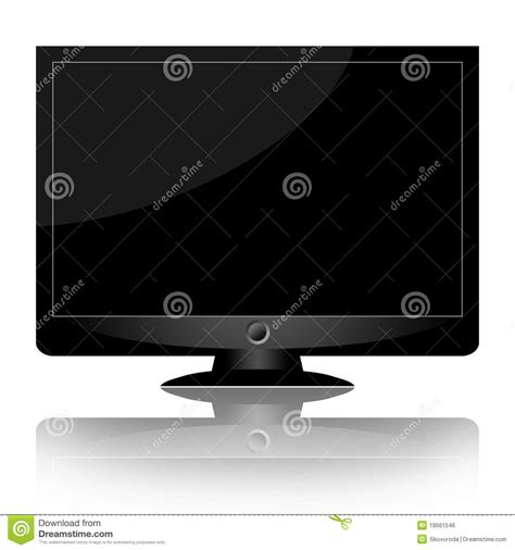 Or Tv Modern Monitor Or Tv Royalty Free Stock Image Image 19561546