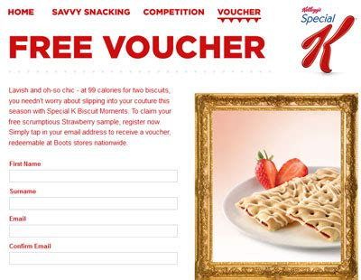 printable vouchers for free stuff uk free special k strawberry biscuit sles printable voucher