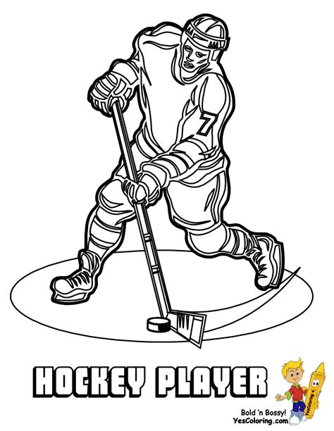 Free Coloring Pages Of Hockey Player Free Hockey Coloring Pages
