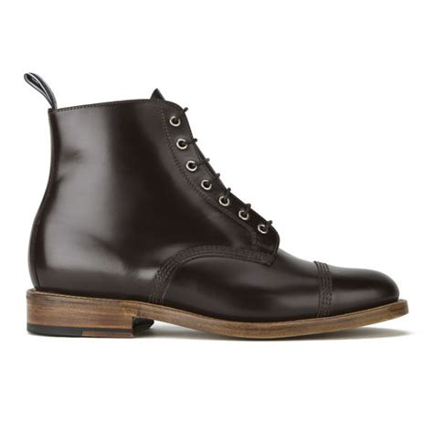 Kickers Oliver Brown oliver spencer s oxford lace up leather boots brown