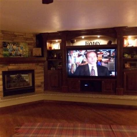 Big Screen Tv Fireplace by 1000 Images About Basement On Bathroom Vanities Corner Wood Stove And Wood Burning