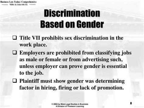 Discrimination In Employment On The Basis Of Criminal Record Ppt Chapter 41 Employment Discrimination Powerpoint