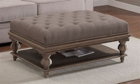 leather and wood coffee table best 25 tufted ottoman coffee table ideas on