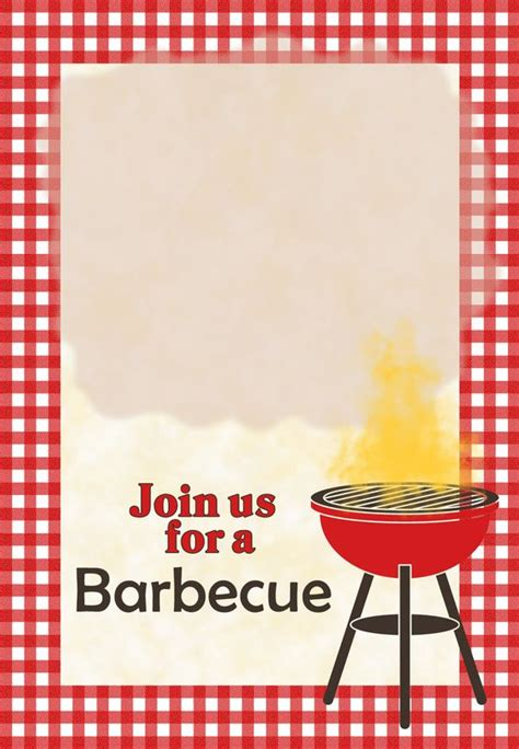 Barbecue Invitation Template Free a barbecue free printable invitation template