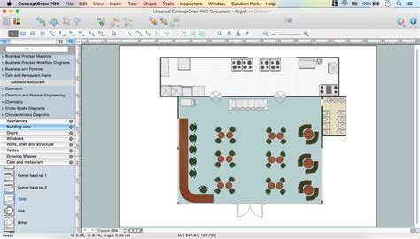 restaurant table layout software caf 233 floor plan design software professional building