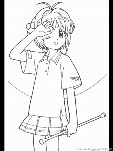 Cardcaptor Coloring Pages Coloring Home Cardcaptor Coloring Pages