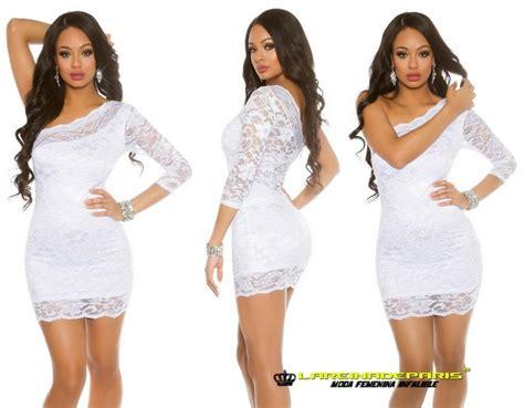 vestido de encaje blanco corto comprar vestido corto de encaje color blanco online