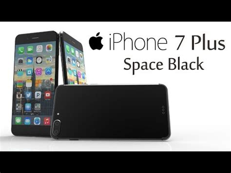 iphone 7 plus space black with capacitive home button 3d rendering the black