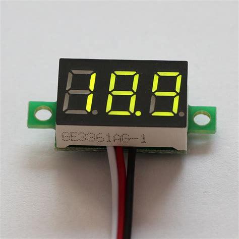 Volt Meter Digital Orange Led Dc 0 32v dc 0 32v led panel display 3 digital voltage meter