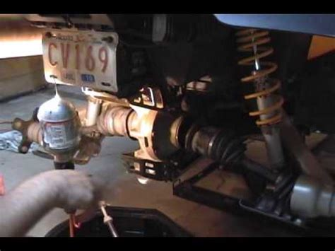 rear axle removal youtube