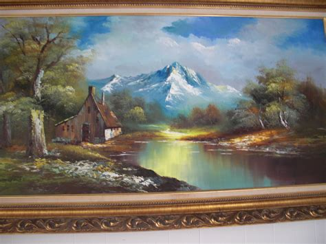 beautiful art pictures vintage g whitman beautiful landscape oil painting