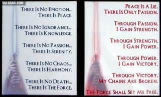 sith and jedi codes geekery pinterest