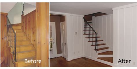 70s Wood Paneling by Painted Wood Paneling Before After B B