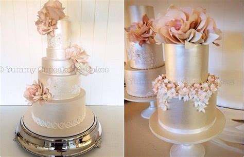 Two of her captivating wedding cake designs are featured