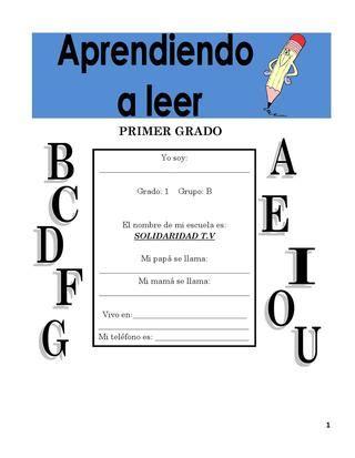 aprendiendo a leer 1er grado by manfran pacheco issuu
