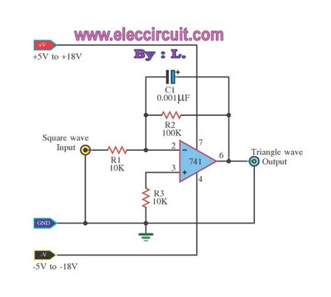 integrator mit op simple lm741 circuits electronic projects circuits