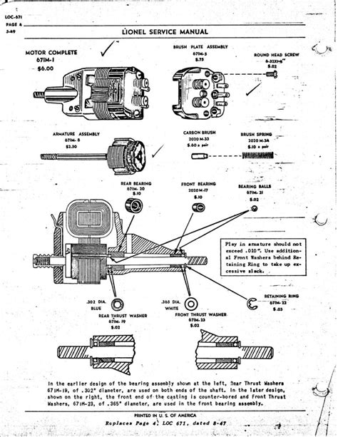 lionel parts list and exploded diagrams lionel engine wiring diagram efcaviation