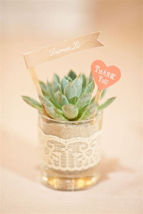 Simple Wedding Giveaways - diy wedding plant favors are perfect for a green wedding