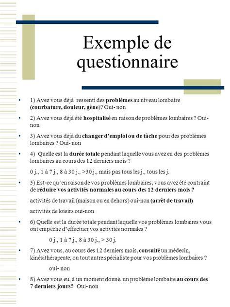 Exemple De Lettre De Remercier Pour Questionnaire Modele Questionnaire Pour Memoire Document
