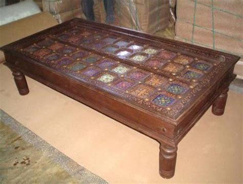 Handcrafted Furniture India - indian antique tables in new area jodhpur exporter and