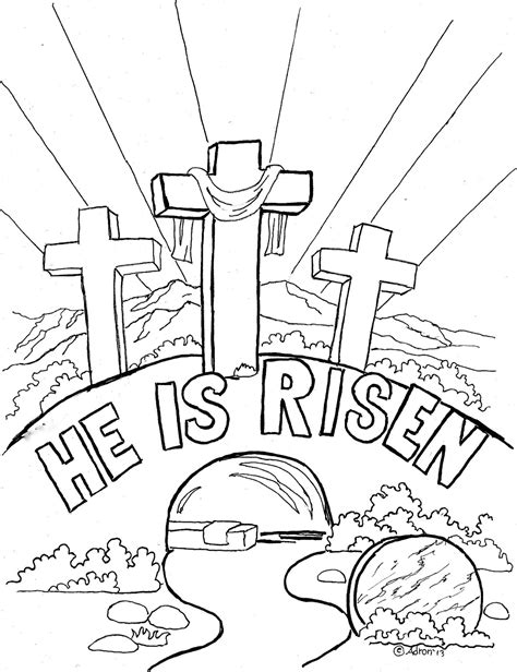 preschool coloring pages about jesus has risen easter coloring page for kids quot he is risen quot the blog has