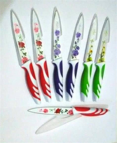 Pisau Dapur Kitchen Set Knife Motif Buah Sayur pisau dapur mawar tajam anti karat unik motif bunga kitchen knife 772 barang unik china