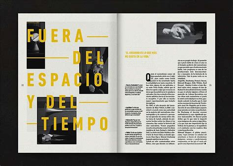 editorial design page layout editorial design inspiration david lynch