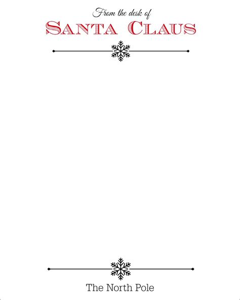 Official Letterhead From The Pole Free Santa Claus Stationary Letterhead Search Results Calendar 2015