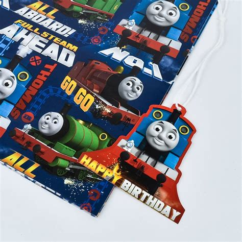 the tank engine gift wrap the tank engine gift wrap tags card factory