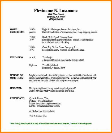 basic resume template word haadyaooverbayresort