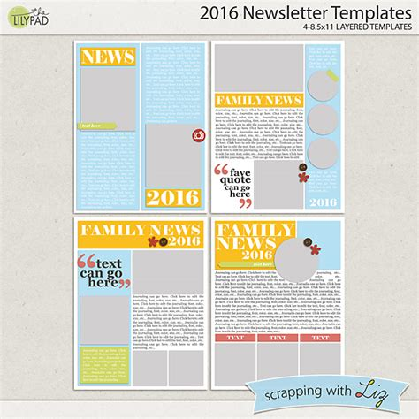 digital newsletter templates free digital scrapbook template 2016 newsletter templates